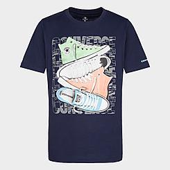 Kids' Converse Sneaker Stack With Jungle Camo-Infill Logo T-Shirt