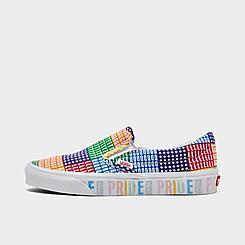 Big Kids' Vans PRIDE Classic Slip-On Casual Shoes