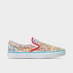 Big Kids' Vans x Where's Waldo? Classic Slip-On Casual Shoes