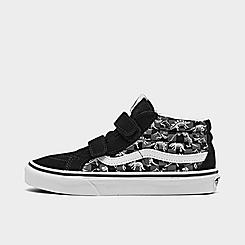 Boys' Little Kids' Vans Dino Glow Skeleton SK8-Mid Reissue V Casual Shoes