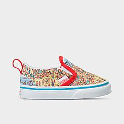 Kids' Toddler Vans x Where's Waldo? Classic Slip-On Casual Shoes