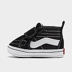 Boys' Infant Vans Old Skool Hook-and-Loop Crib Shoes