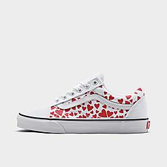 Women's Vans Old Skool Heart Print Casual Shoes