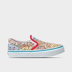 Little Kids' Vans x Where's Waldo? Classic Slip-On Casual Shoes