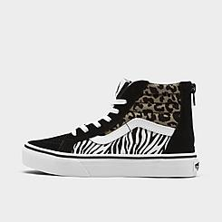 Girls' Little Kids' Vans Sk8-Hi Zip Casual Shoes