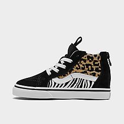 Girls' Toddler Vans Sk8-Hi Zip Animal Print Casual Shoes