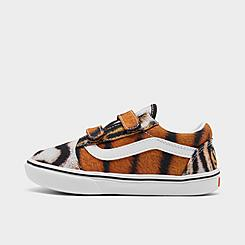Kids' Toddler Vans x Project CAT ComfyCush Old Skool Tiger Hook-and-Loop Casual Shoes
