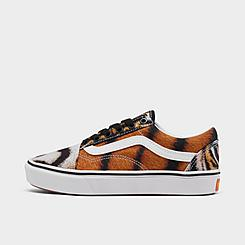 Little Kids' Vans x Project Cat ComfyCush Old Skool Tiger Casual Shoes
