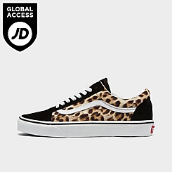 Women's Vans Old Skool Animal Casual Shoes