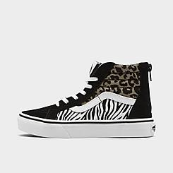 Girls' Big Kids' Vans Sk8-Hi Zip Casual Shoes