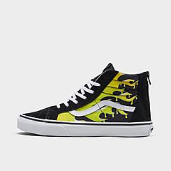 Big Kids' Vans Sk8-Hi Suede Print Casual Shoes
