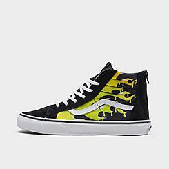 Big Kids' Vans Sk8-Hi Suede Print Casual Shoes
