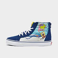 Big Kids' Vans x SpongeBob SquarePants Sk8-Hi Casual Shoes
