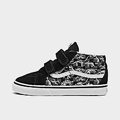 Boys' Toddler Vans Dino Glow Skeleton SK8-Mid Reissue V Casual Shoes