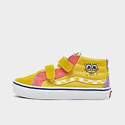 Kids' Toddler Vans x SpongeBob SquarePants SK8-Mid Reissue V Casual Shoes