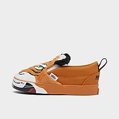Kids' Toddler Vans x Project CAT Classic Slip-On V Wild Tiger Casual Shoes