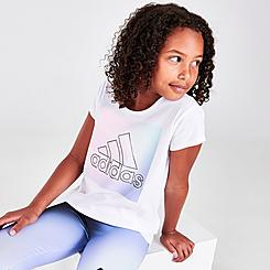 Girls' adidas Badge Of Sport Box Logo Scoop Neck T-Shirt