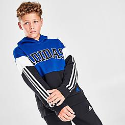Boys' adidas Training Core Colorblock Pullover Hoodie