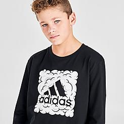 Boys' adidas Logo Cloud Box Long-Sleeve T-Shirt