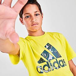 Boys' adidas Action Camo Badge Of Sport T-Shirt