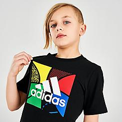 Boys' Little Kids' adidas Badge of Sport Boxed Logo Graphic T-Shirt
