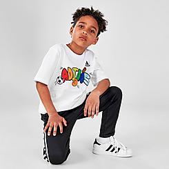 Boys' Little Kids' adidas Balloon Script T-Shirt