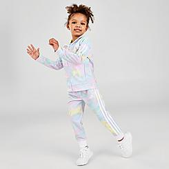 Girls' Toddler and Little Kids' adidas Training Tie-Dye Printed Track Suit