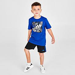 Boys' Little Kids' adidas Badge Of Sport T-Shirt and Shorts Set