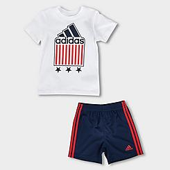 Boys' Infant adidas Americana T-Shirt and Shorts Set