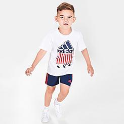 Boys' Toddler adidas Americana T-Shirt and Shorts Set