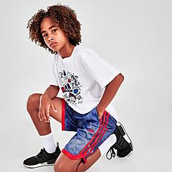 Boys' adidas Tie-Dye Mesh Basketball Shorts