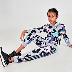 Girls' adidas Allover Print Tricot Jogger Pants
