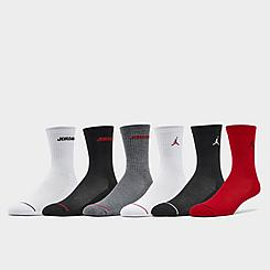 Kids' Jordan Legend 6-Pack Crew Socks