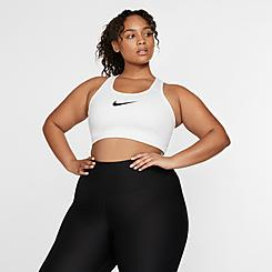 Women's Nike Swoosh Medium-Support Sports Bra (Plus Size)