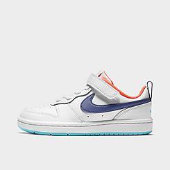 Girls' Little Kids' Nike Court Borough Low 2 Casual Shoes