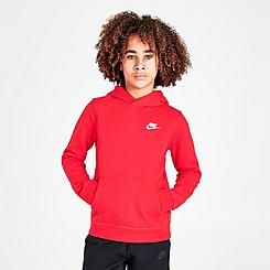 Boys' Nike Sportswear Small Logo Club Hoodie