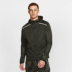 Men's Nike Shield Hooded Running Jacket