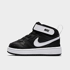 Kids' Toddler Nike Court Borough Mid 2 Casual Shoes