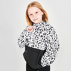 Girls' Champion Leopard Colorblock Windbreaker Wind Jacket