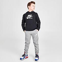 Boys' Nike Sportswear Embroidered Logo Club Fleece Jogger Pants
