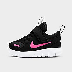 Girls' Toddler Nike Flex Contact 4 Hook-and-Loop Running Shoes