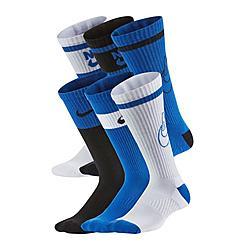Kids' Nike Everyday Cushioned Crew Socks (6-Pack)