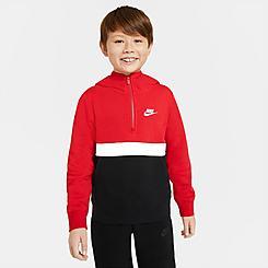 Boys' Nike Club Half-Zip Hoodie