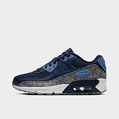 Boys' Big Kids' Nike Air Max 90 SE Speckled Casual Shoes