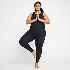 Women's Nike High-Waisted 7/8 Yoga Luxe Infinalon Leggings (Plus Size)