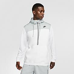 Men's Nike Sportswear Mixed Fleece Half-Zip Hoodie