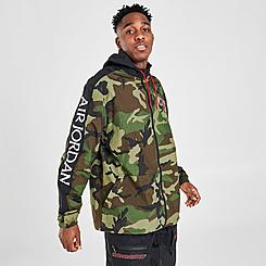Men's Jordan Mashup Jumpman Classics Camo Windbreaker Jacket
