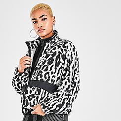 Women's Nike Sportswear Animal Print Sherpa Fleece Jacket
