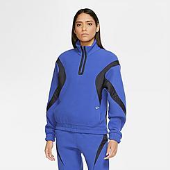 Women's Nike Sportswear Archive Remix Quarter-Zip Fleece Top