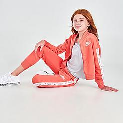 Girls' Nike Sportswear Taped Track Suit
